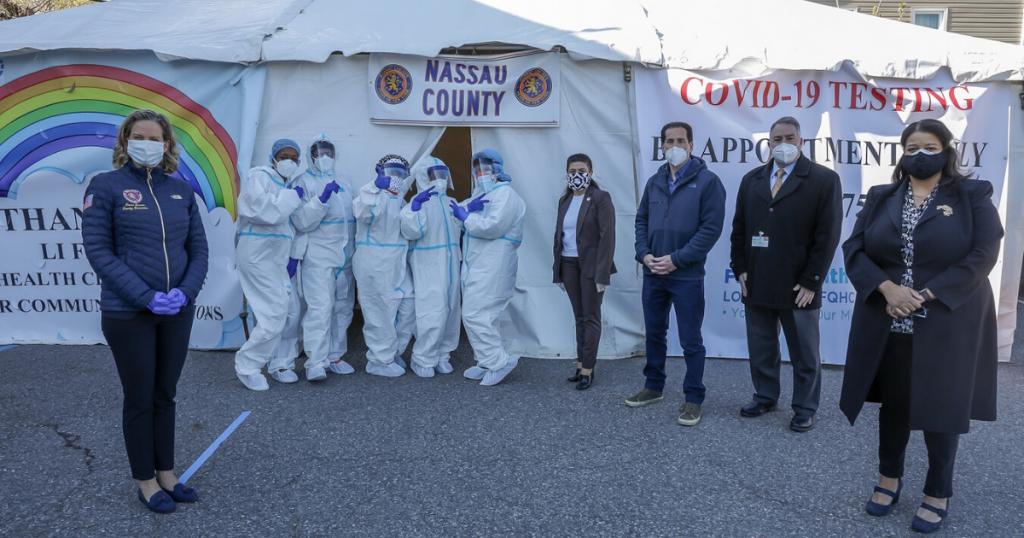 Coronavirus Testing Site Built to Serve Elmont Community