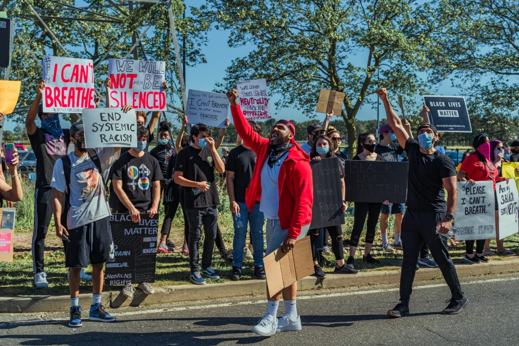 Peaceful Protests Spark in Wyandanch and Brentwood After the Death of George Floyd